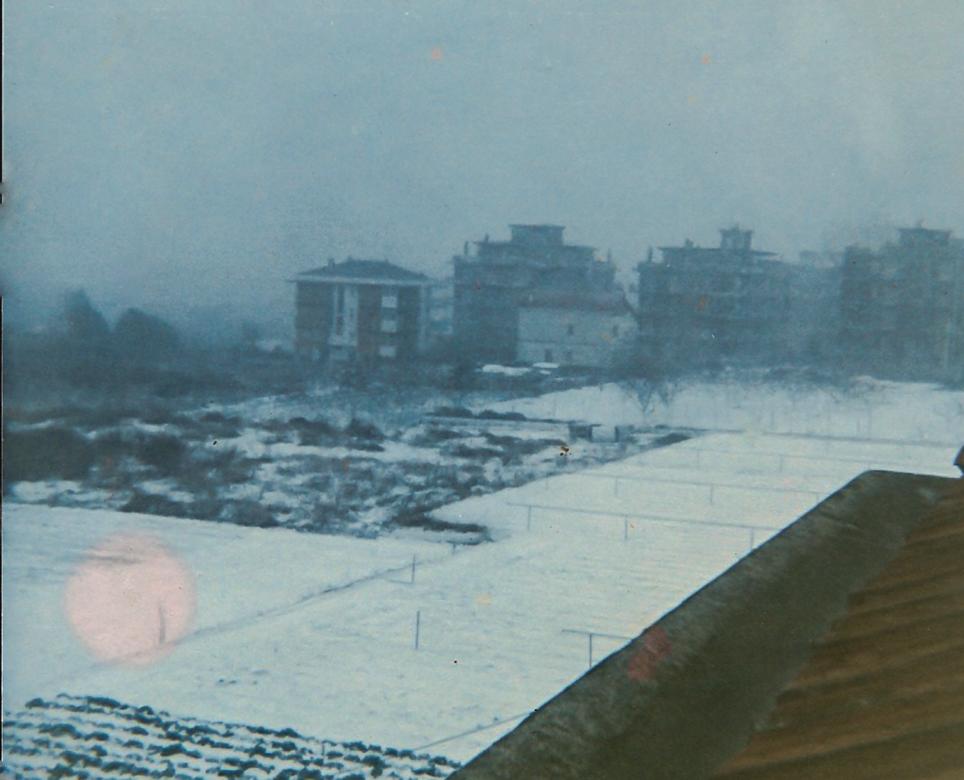 Nevicata a Borghetto S. Spirito. Anni 60